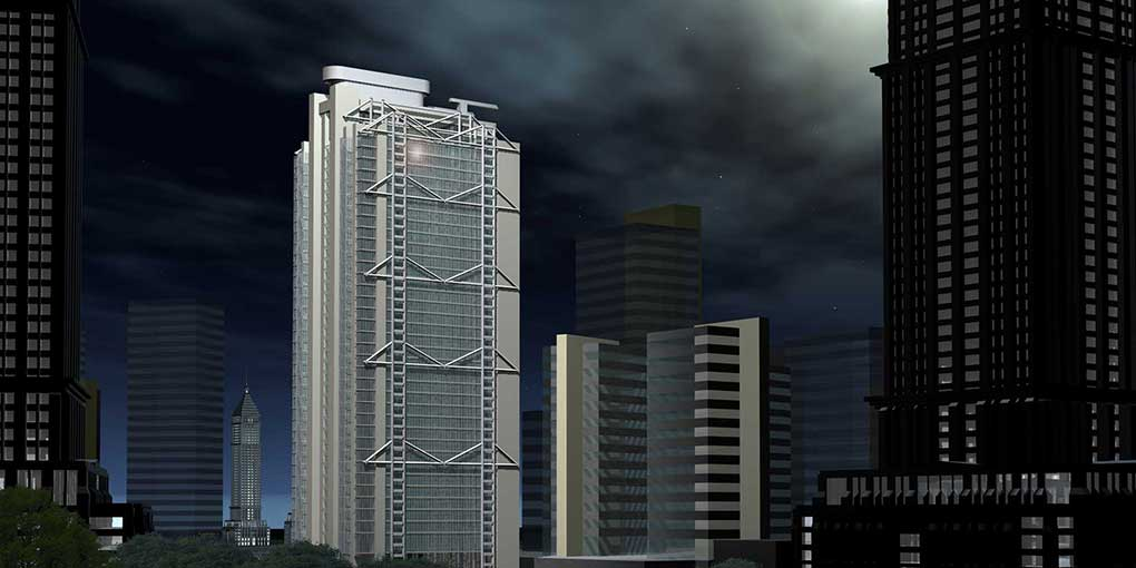 Digital Architectural Visualization using Rhino 5 and Cinema 4D – High Rise office block