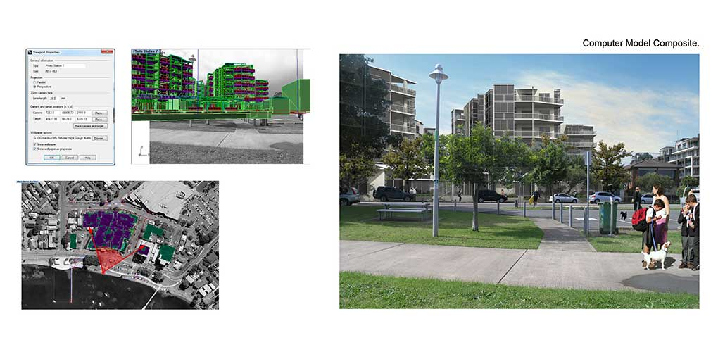 Architectural Photomontage Image - Residential Aged Care Development