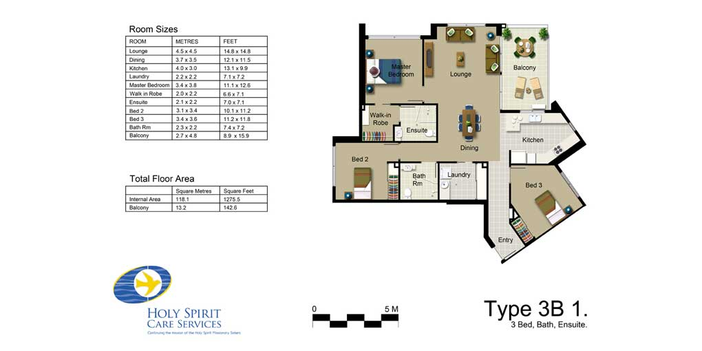 Rendered Floor Plan in Photoshop - Aged Care Development