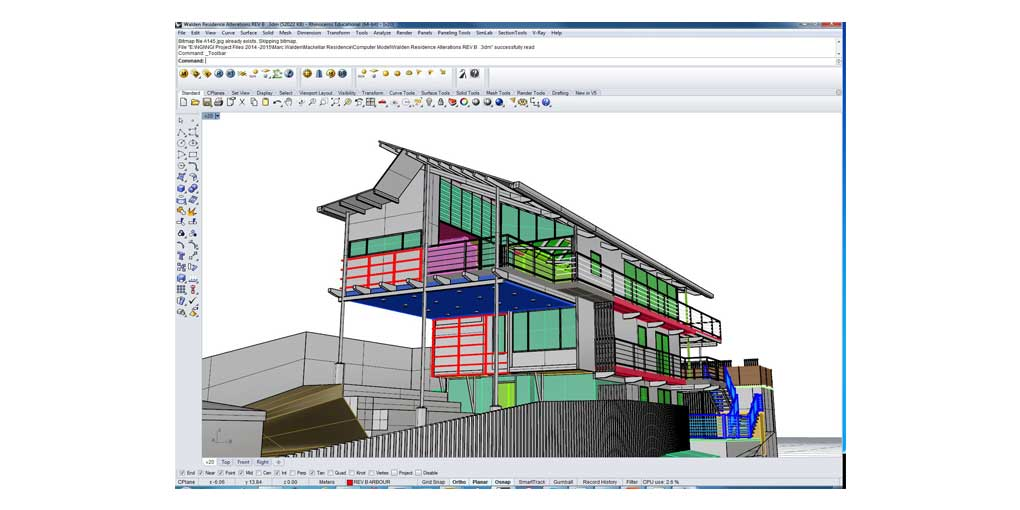 Training Software User Interface Rhino 5 - Residential Design