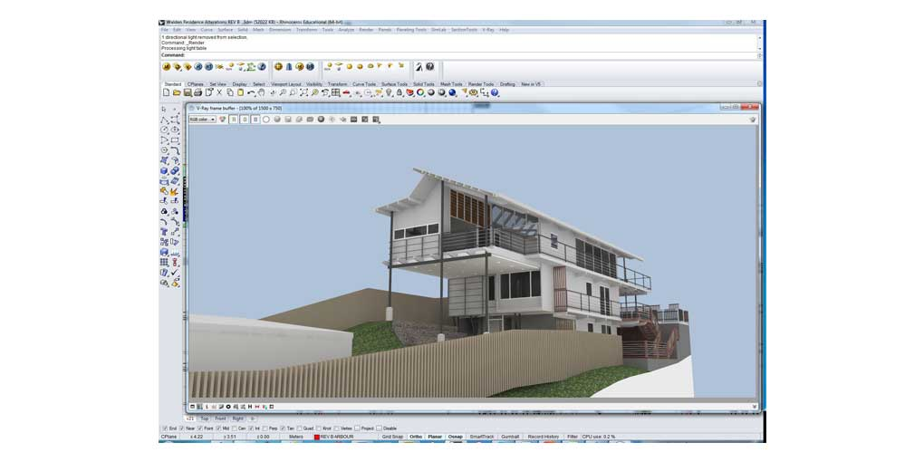 Training Software User Interface Rhino 5 and Vray - Residential Design