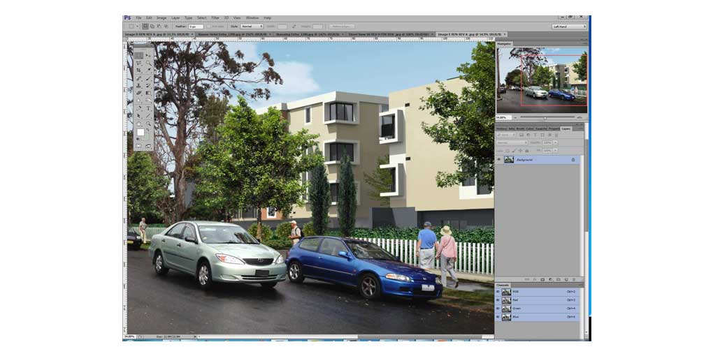 Training Software User Interface Photoshop - Photomontage Residential Aged Care Design