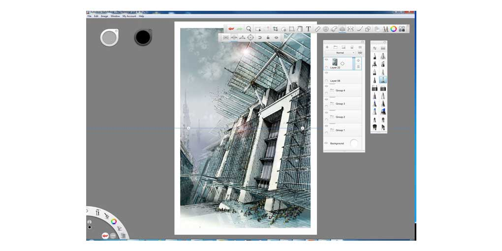 Training Software User Interface Sketchbook Pro - Concept Design for Movie and Videogame Concept Design