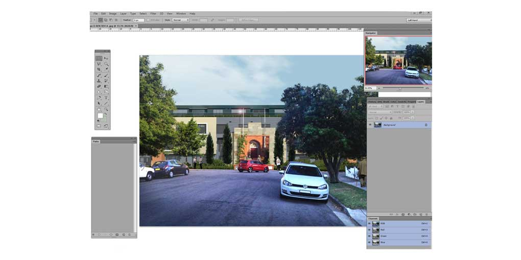 Photoshop Interface - Arcitectural Aged Care Image